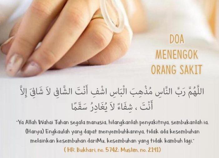 Doa Menjenguk Orang Sakit Dalam Bahasa Arab