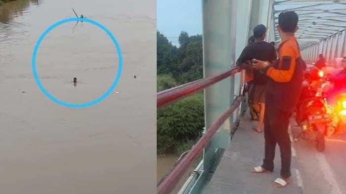 Kelamaan Menganggur Pria ini Nekat Bunuh Diri Lompat di Sungai Bengawan Solo