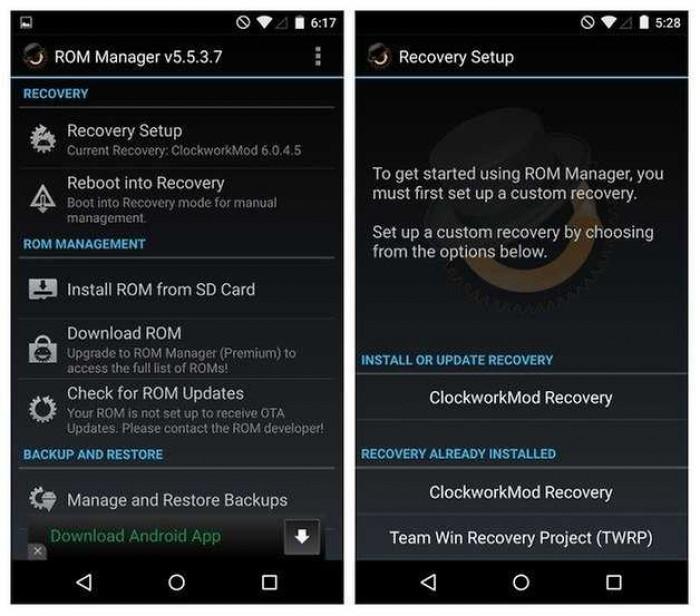 Cara Instal CWM Recovery di Semua Versi Android