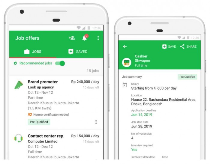Aplikasi Pencari Lowongan Pekerja Google Hari Ini di Luncurkan