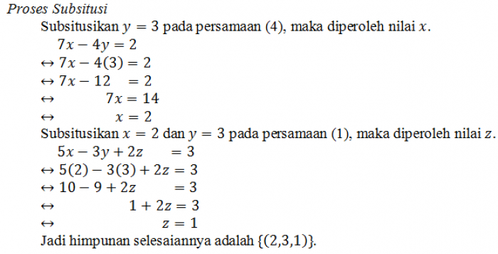 Sistem Persamaan Linear Tiga Variabel