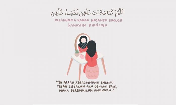 Doa Bercermin Arab dan Artinya