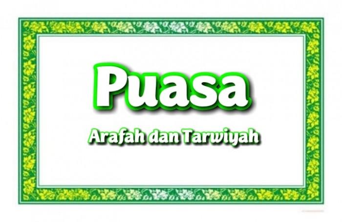 Lafadz Niat Puasa Arafah dan Tarwiyah