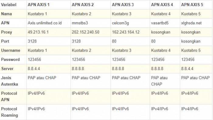 Cara Pengaturan APN Axis Paling Cepat dan Stabil