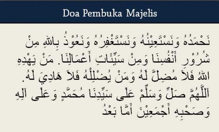 Doa Pembuka Majelis Sesuai Sunnah Rasulullah SAW