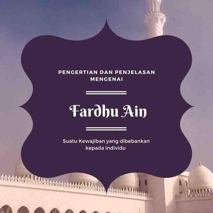 Fardhu Ain Adalah? Berikut Penjelasannya