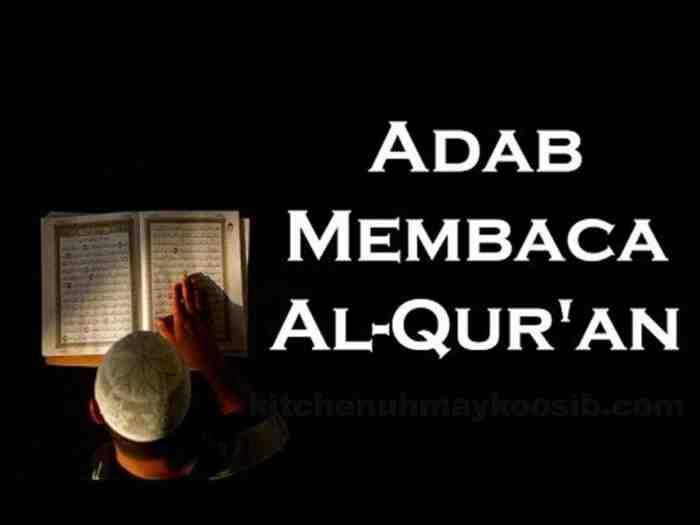 Adab Membaca Al Qur'an
