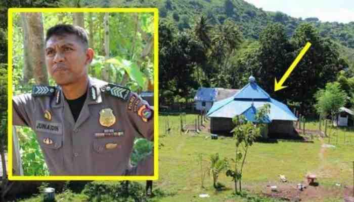 MasyaAllah, Polisi ini Rela Sisihkan Gajinya untuk Bangun Pesantren