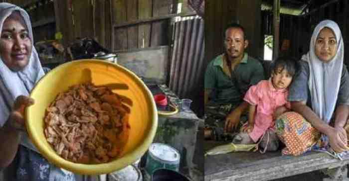 Kisah Pilu, Keluarga Ini Mengais Kulit Ayam Sisa Kantin Demi Bisa Makan