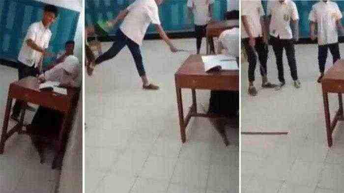 Kelakuan Bejat Siswa SMP di Purworejo Tendang dan Pukul Teman Perempuannya