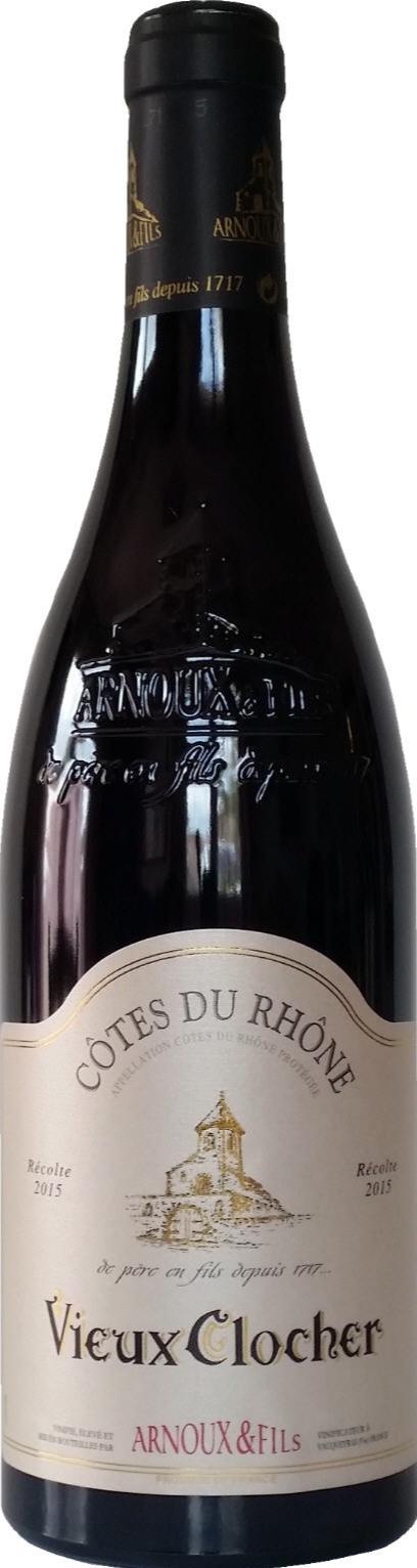 """Domaine ARNOUX  Cotes du Rhone """"Vieux Clocher"""" - Terre Mer Vins"""