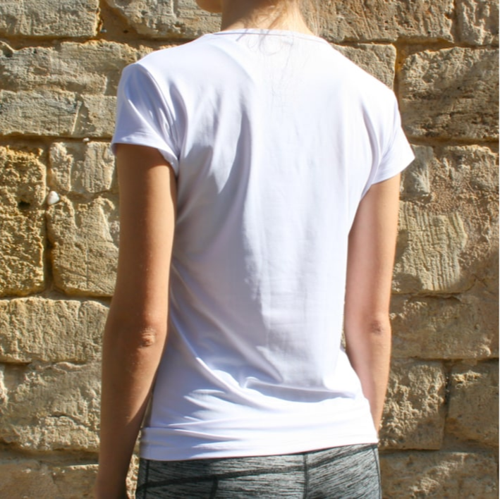 T-shirt ultra white dos