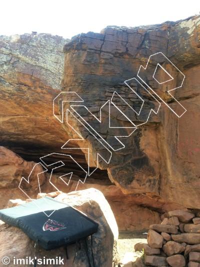 photo of Chameleon  from Oukaimeden Bouldering Morocco