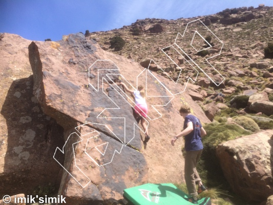 photo of KitKat from Oukaimeden Bouldering Morocco