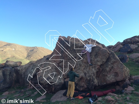 photo of Horny Thorn from Oukaimeden Bouldering Morocco