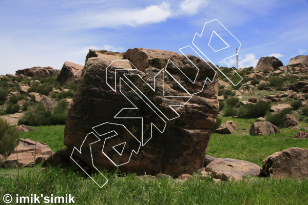 photo of Kings arms from Oukaimeden Bouldering Morocco
