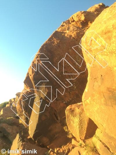 photo of Katalyn from Oukaimeden Bouldering Morocco