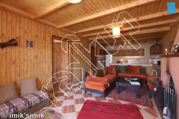 photo of Mostaphas Chalet ,   at Chalet imik'simik  from Oukaimeden Bouldering Morocco