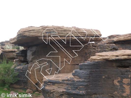 photo of Hieroglyph from Oukaimeden Bouldering Morocco