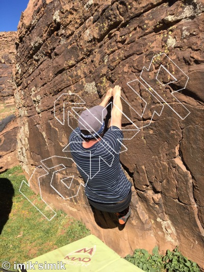 photo of Shady Side from Oukaimeden Bouldering Morocco