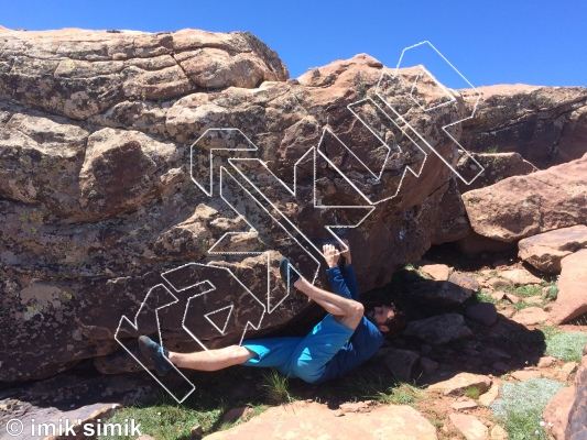 photo of Cloud Dancer  from Oukaimeden Bouldering Morocco