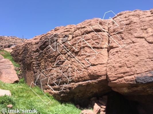 photo of Rattlesnake from Oukaimeden Bouldering Morocco