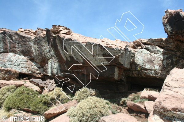 photo of King line from Oukaimeden Bouldering Morocco