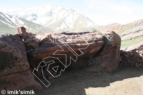 photo of Naufragio from Oukaimeden Bouldering Morocco