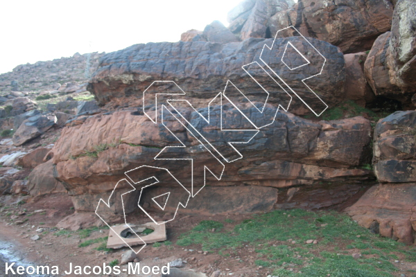 photo of Deshaciendo from Oukaimeden Bouldering Morocco
