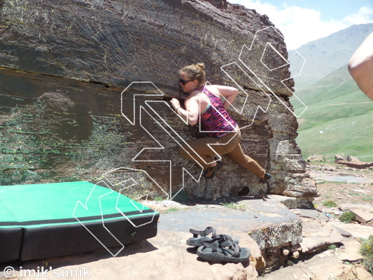 photo of Low Rider from Oukaimeden Bouldering Morocco