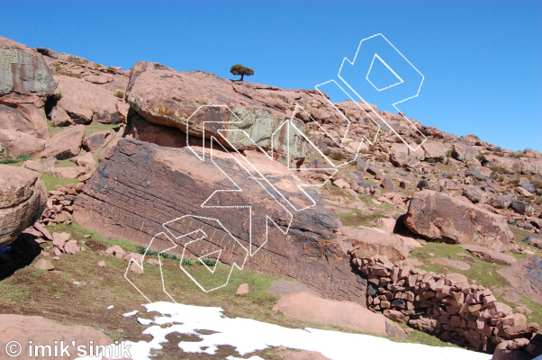 photo of Rock around the block tonight from Oukaimeden Bouldering Morocco