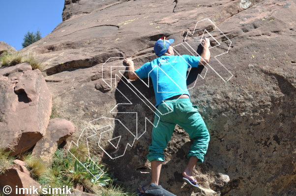 photo of Push from Oukaimeden Bouldering Morocco