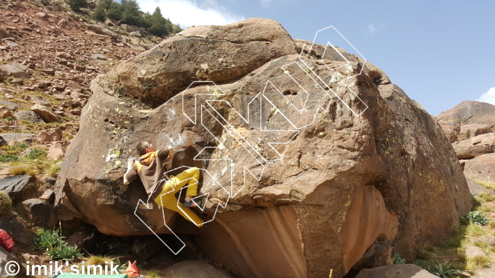 photo of Beasty Biceps from Oukaimeden Bouldering Morocco