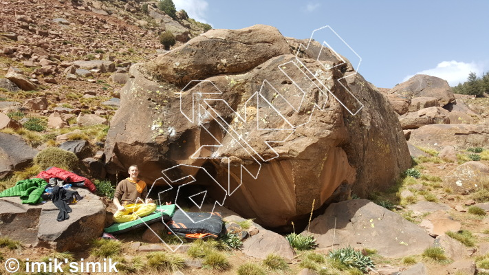 photo of Friends Zone from Oukaimeden Bouldering Morocco