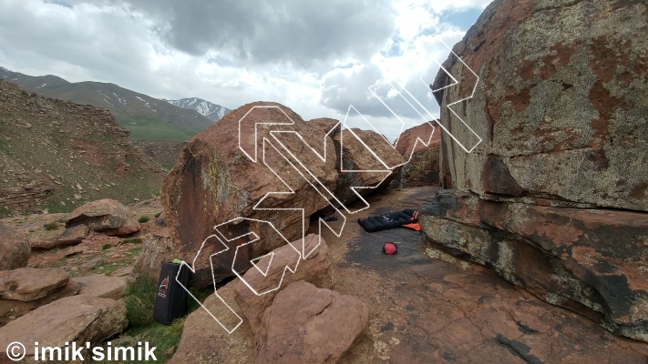 photo of High Stairs from Oukaimeden Bouldering Morocco