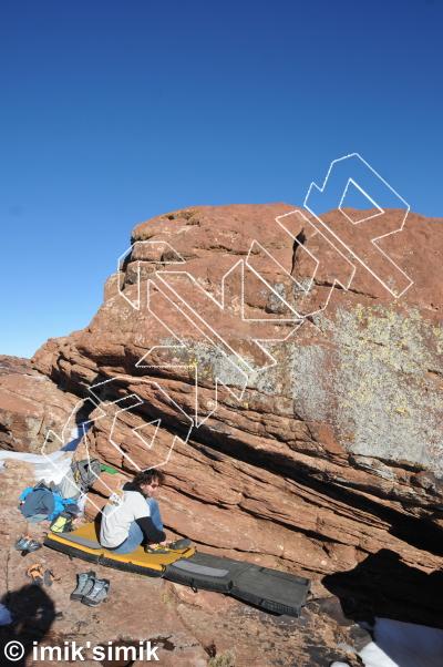 photo of Highline from Oukaimeden Bouldering Morocco