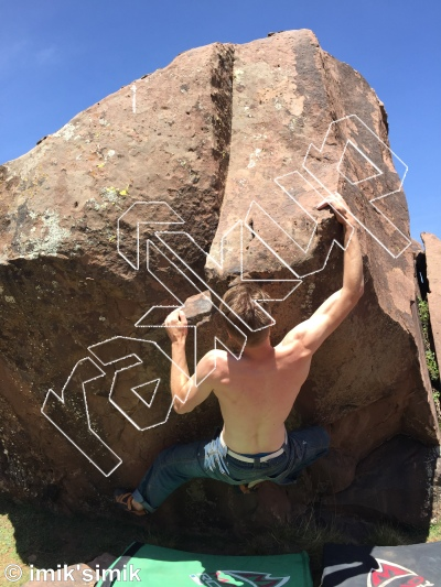photo of Le Sing d'or from Oukaimeden Bouldering Morocco