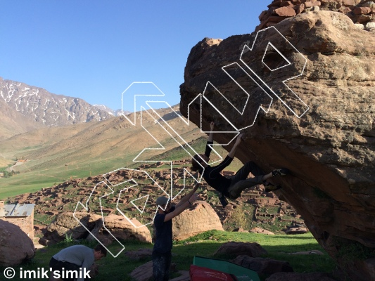 photo of Swing from Oukaimeden Bouldering Morocco