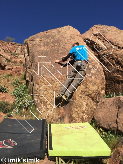 photo of Naughty Slab from Oukaimeden Bouldering Morocco