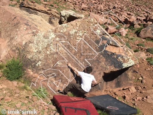 photo of Wall of Shame from Oukaimeden Bouldering Morocco