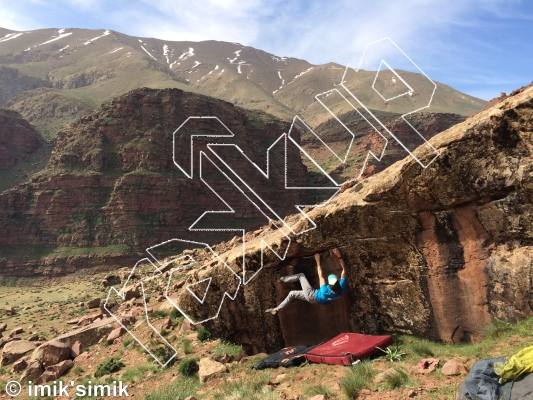 photo of Long Story Short from Oukaimeden Bouldering Morocco