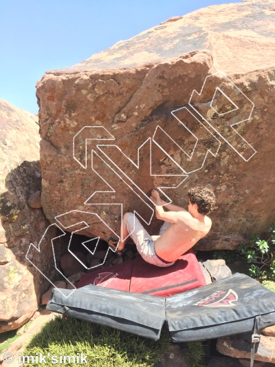 photo of Little Man from Oukaimeden Bouldering Morocco