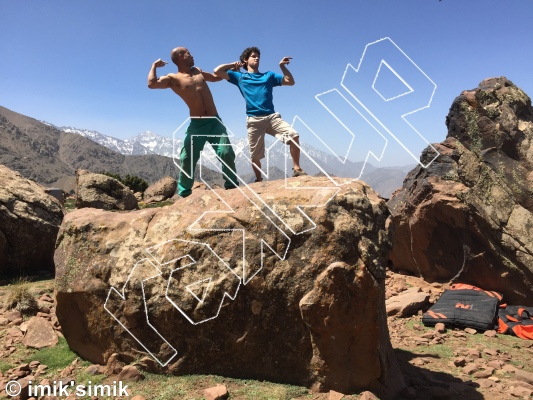 photo of climbs to be deleted from Oukaimeden Bouldering Morocco