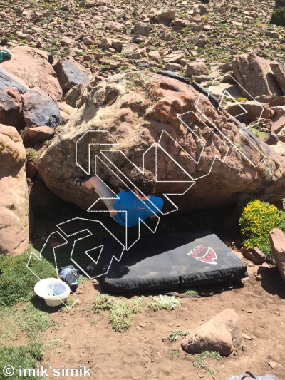 photo of Dark Side of the Frog from Oukaimeden Bouldering Morocco