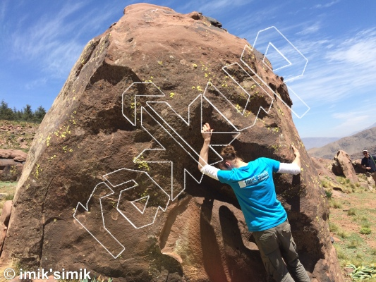 photo of Scorpion Rock from Oukaimeden Bouldering Morocco