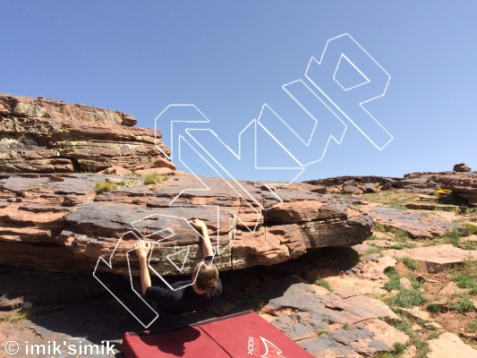 photo of 1 Up from Oukaimeden Bouldering Morocco