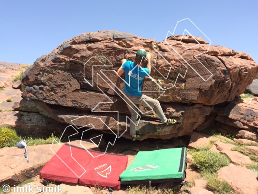photo of Burgers from Oukaimeden Bouldering Morocco