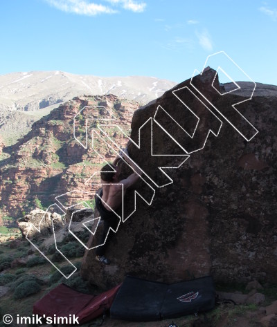 photo of Two Face from Oukaimeden Bouldering Morocco
