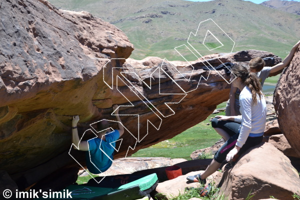 photo of Drunk'n  Artist from Oukaimeden Bouldering Morocco