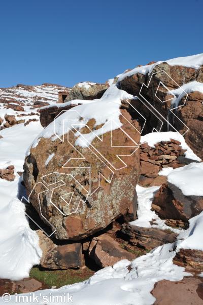 photo of Crimpin' from Oukaimeden Bouldering Morocco